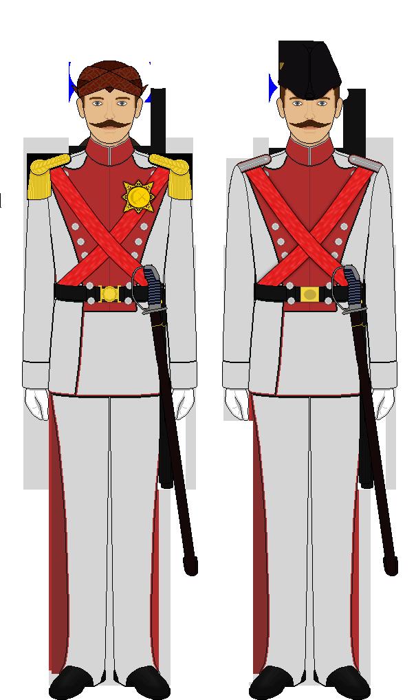Pakuningratan Dhaeng Guard Ceremonial Uniform by lordelpresidente
