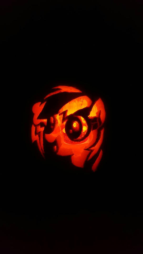 My Carving Of Rainbow Dash In All Fairness I Did Find The Design Online Originally This Was Carved Last Year However Too Late To Submit It So