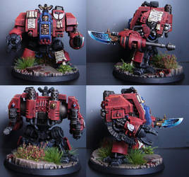 Blood Angels Dreadnought Librarian by adamaknight
