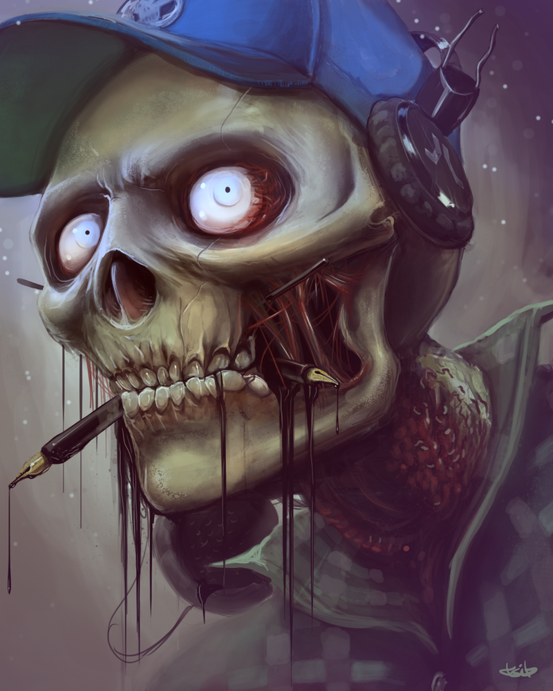 Skull portrait by TSIB