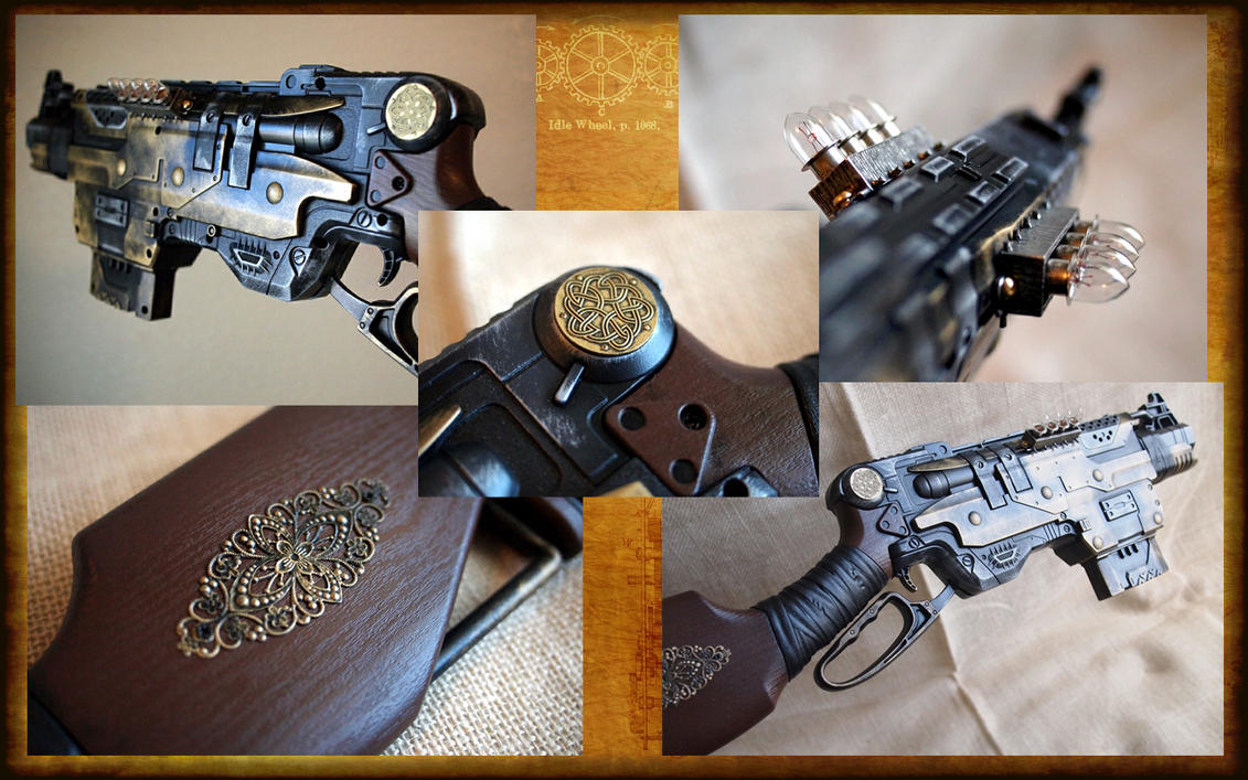 Nerf Slingfire, Celtic Steampunk with Lights by KillingjarStudios ...
