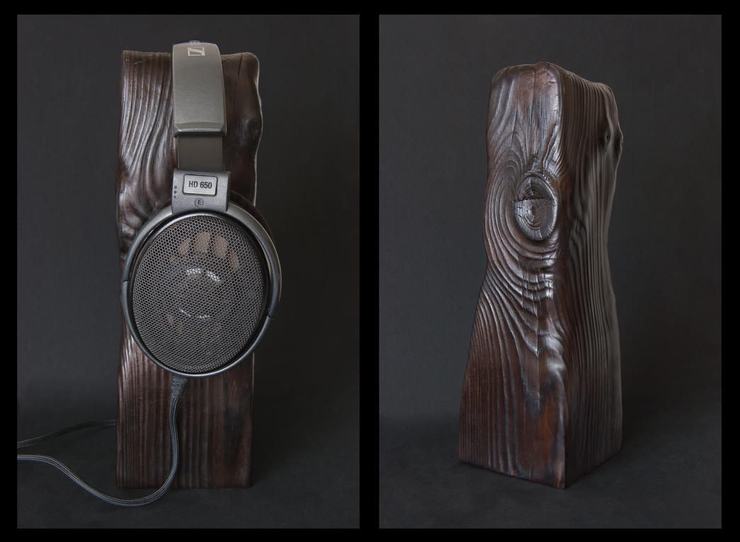 Headphone Stand - Reclaimed Wood - #1 by ilion-design