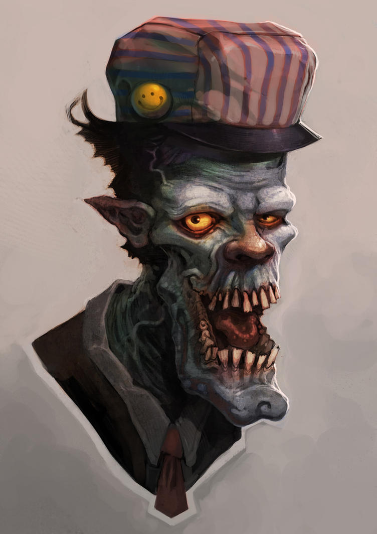Trainconductor_Ghoul by WacomZombie