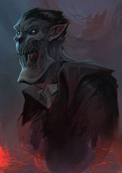 Old Dracula by WacomZombie