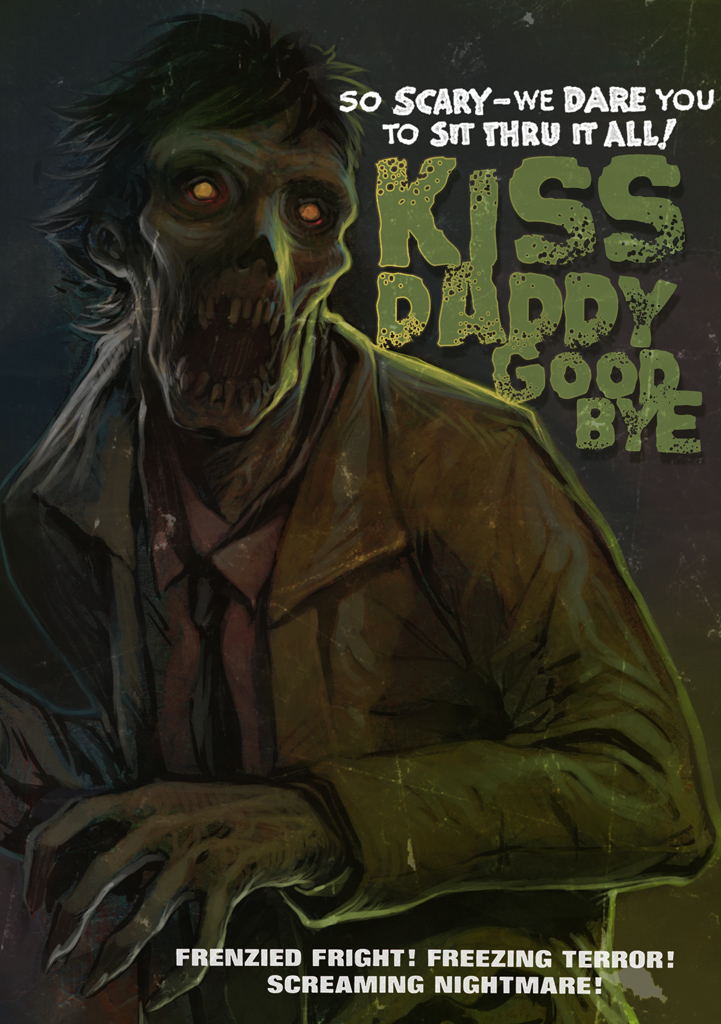 kiss daddy goodby by WacomZombie