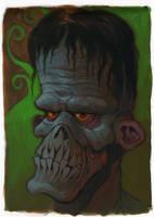 Swamp zombie by WacomZombie