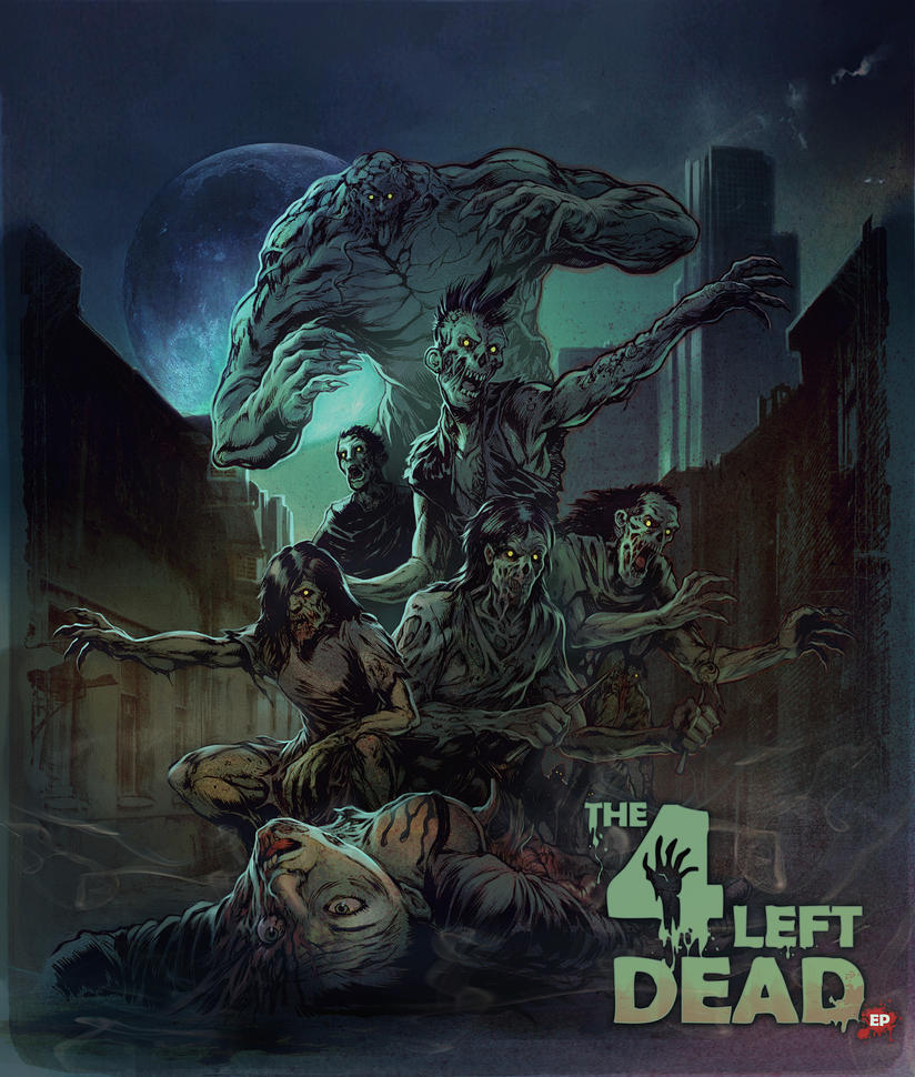 The 4 Left dead by WacomZombie 45 Awesome Apocalyptic Zombie Artworks