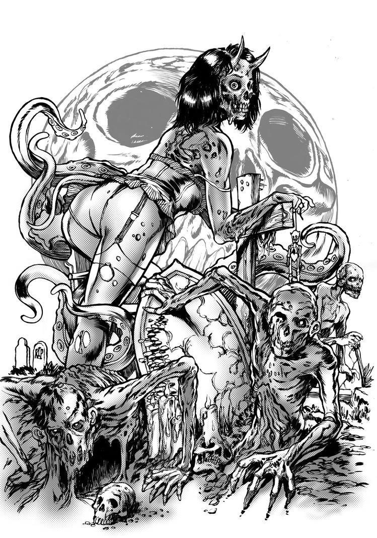 Zombie Girl Artwork Images amp Pictures Becuo