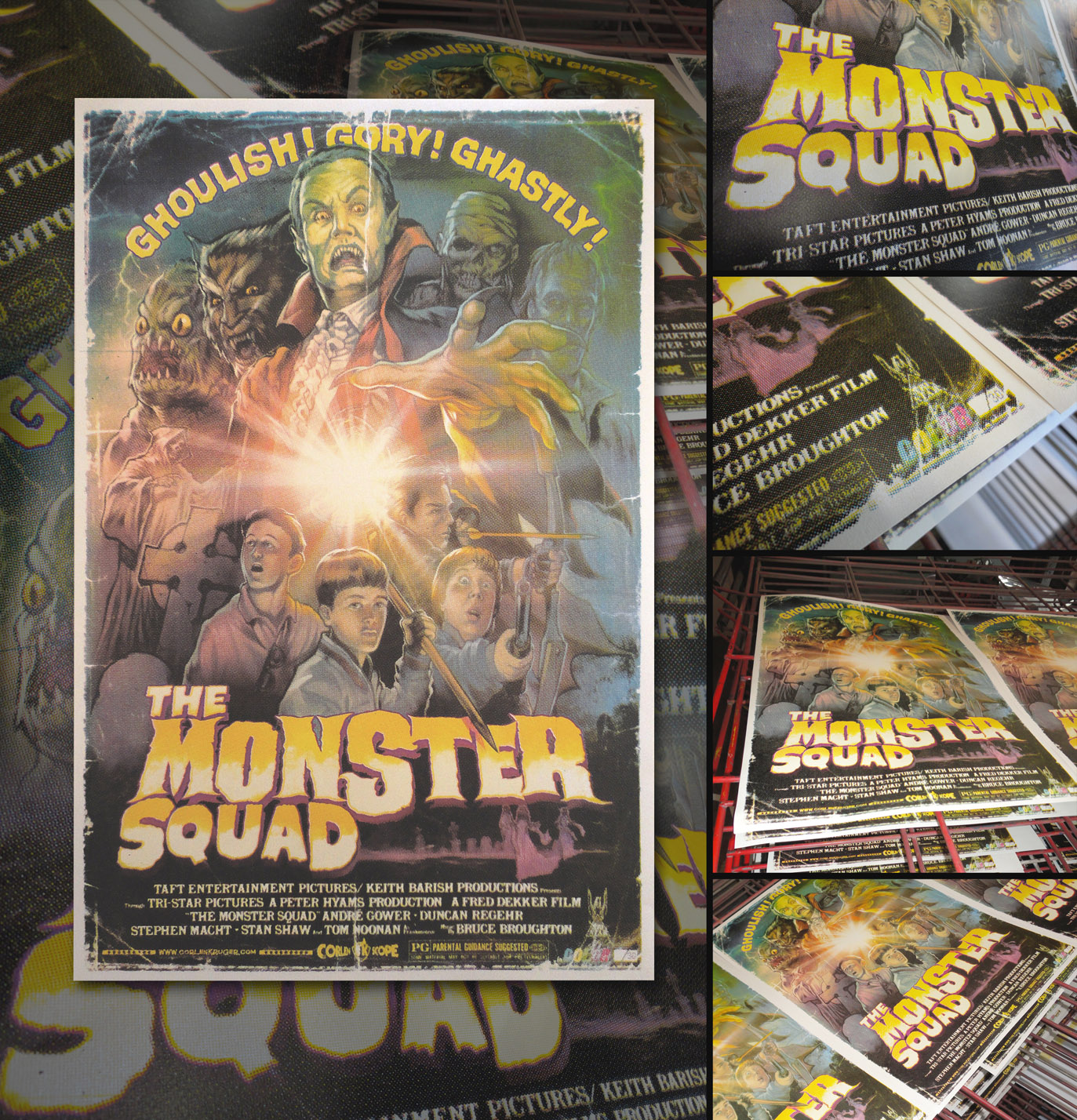 The Monster Squad PRINT by WacomZombie
