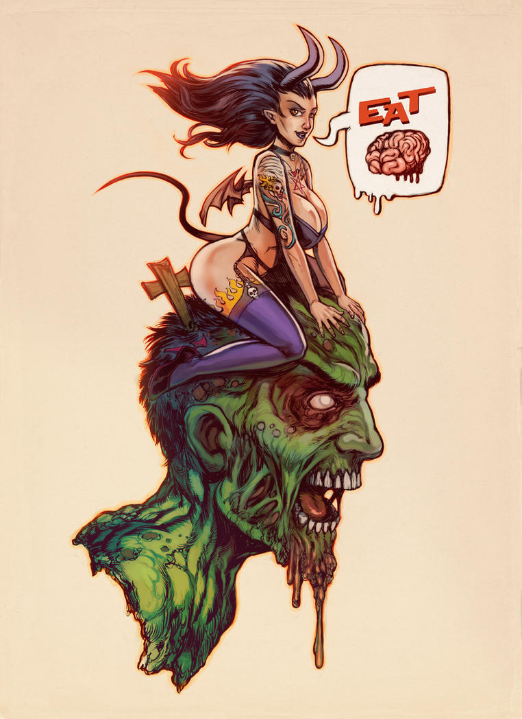 Eat Brains by WacomZombie