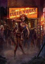 Ultrapro Zombie girl Sleeve artwork 02 by WacomZombie