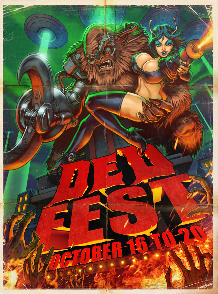 DED Fest Poster 2013 by WacomZombie
