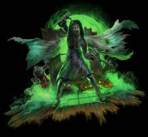 Haunted House Tee Shirt artwork by WacomZombie