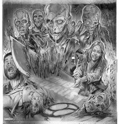 Zombie Holocaust LP Cover - Tonal Pencil Art by WacomZombie