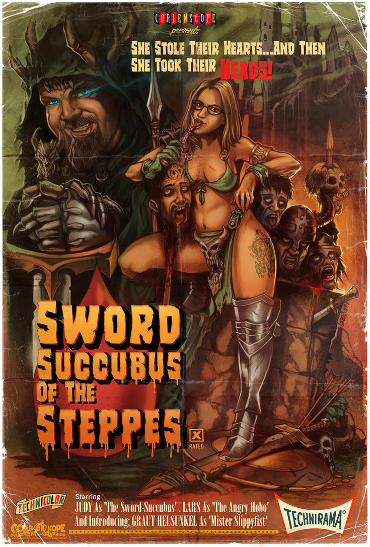 Sword Succubus of the Steppes by WacomZombie