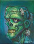 Electric Frankenstein portrait