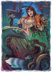 Deadly mermaid by WacomZombie