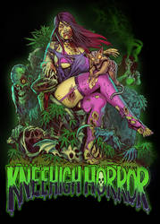 KneehighHorror Teeshirt Art by WacomZombie