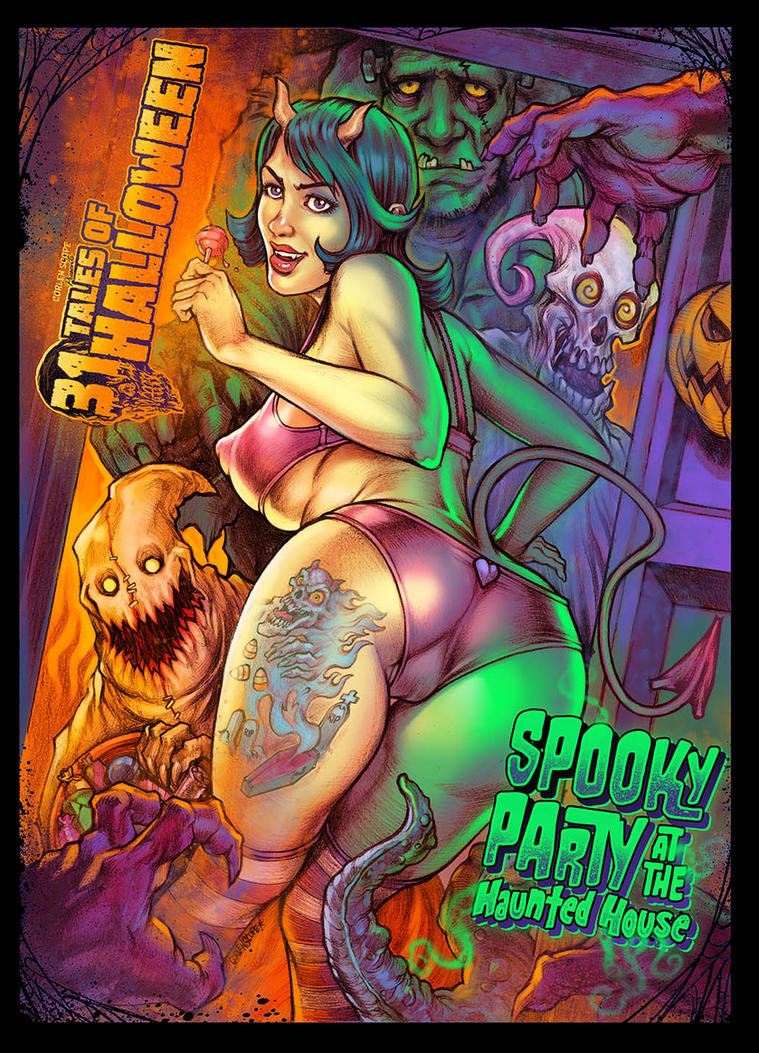 Spookyparty with 31 tales of halloween by WacomZombie