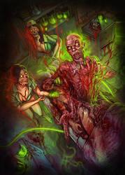 The Parasite Zombie Toxin tee shirt art by WacomZombie