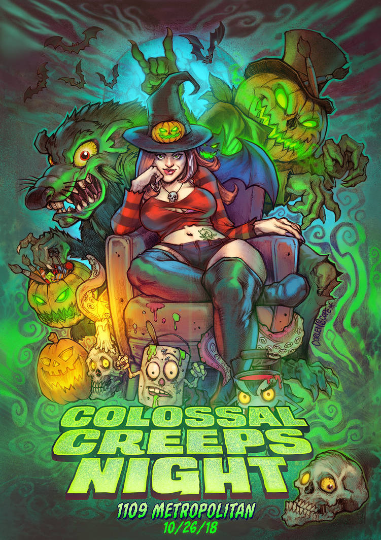 Colossal Creeps Night : Halloween Flyer by WacomZombie