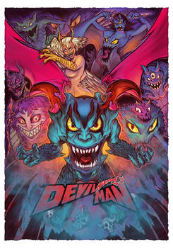 Devilman poster and artwork for my Art toy version