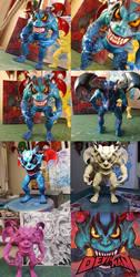 Process shots of my Devilman art toy