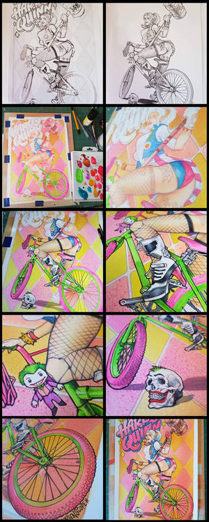 Harley Quinn Commission Process