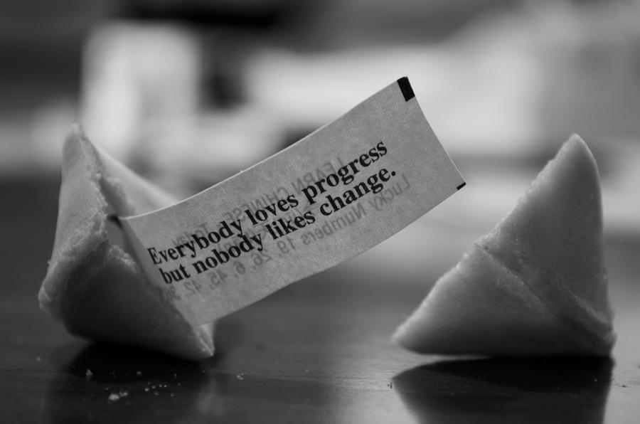 Everybody loves progress but nobody likes change by JohRo2012