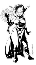 Snowy the Sorceress - Lineart by Daitou