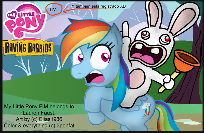 My Little Pony Fart Mlp raving rabbids arrange by