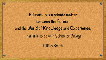 Lillian Smith Quote by RSeer
