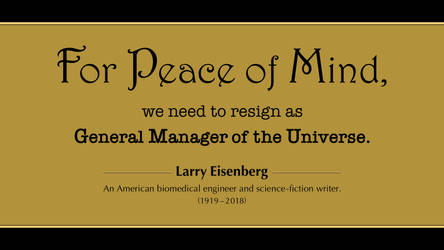 Larry Eisenberg Quote by RSeer