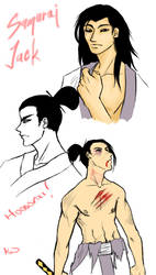 Samurai Jack sketchels