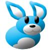 Blue Rabbity Thing by teka-phoenix