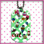 Anime Sweets Dog Tag Necklace