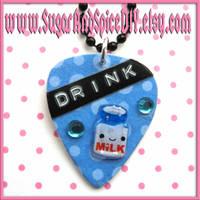 Drink Milk Pick Necklace by wickedland