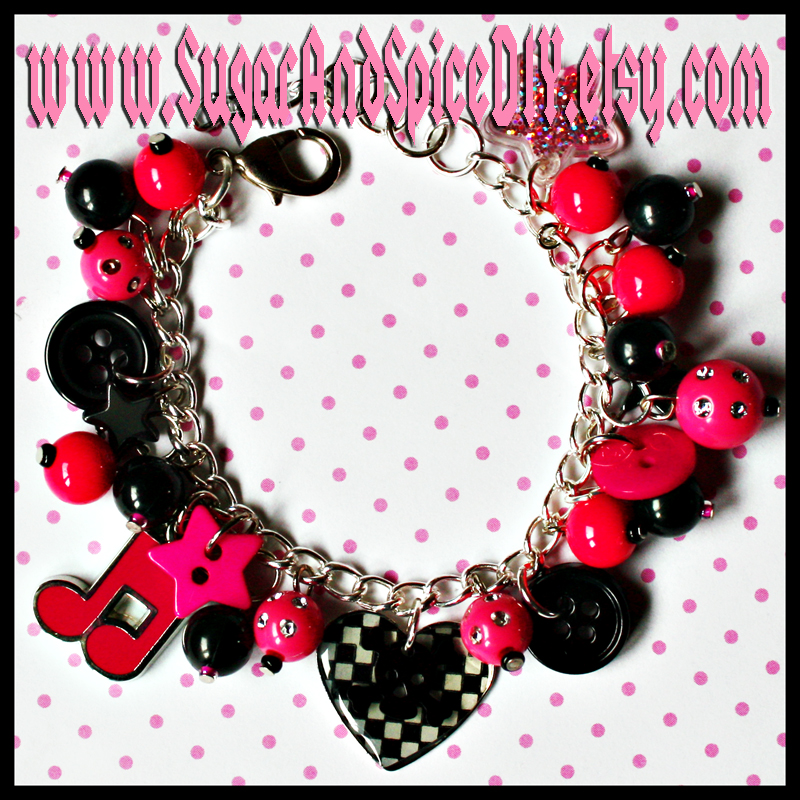 I Love Rock and Roll Bracelet by SugarAndSpiceDIY