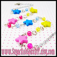 Rainbow Rave Stars Necklace by wickedland