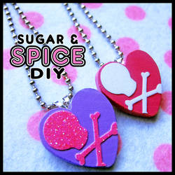 HARD CANDY Love Punk Handmade Necklace Charms by wickedland