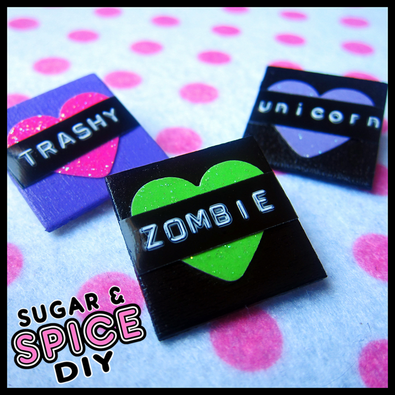 HARD CANDY I Heart... Handmade Pins by SugarAndSpiceDIY