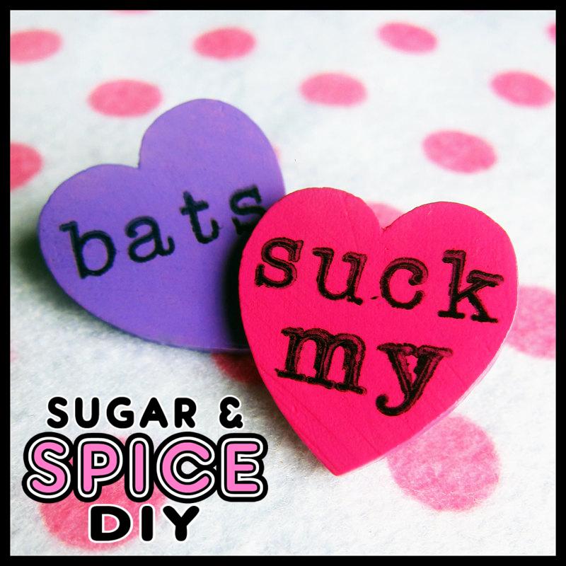 HARD CANDY Bats Suck Blood Handmade Pin Brooch Set by SugarAndSpiceDIY