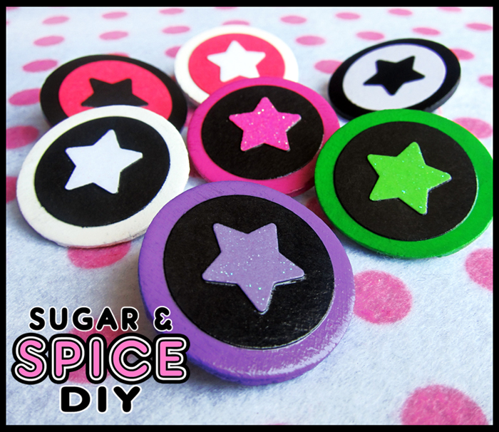 TRIGGER HAPPY Star Pins by SugarAndSpiceDIY