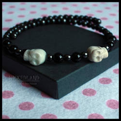WICKEDLAND Bad Bones Beaded Choker Necklace by wickedland