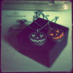 Halloween in Wickedland Pumpkin Pendant by wickedland