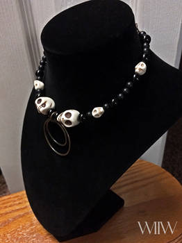AWFUL ALICE Me and Jack Beaded Choker Necklace