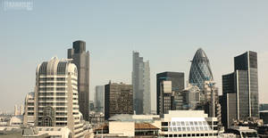 Modern London panorama