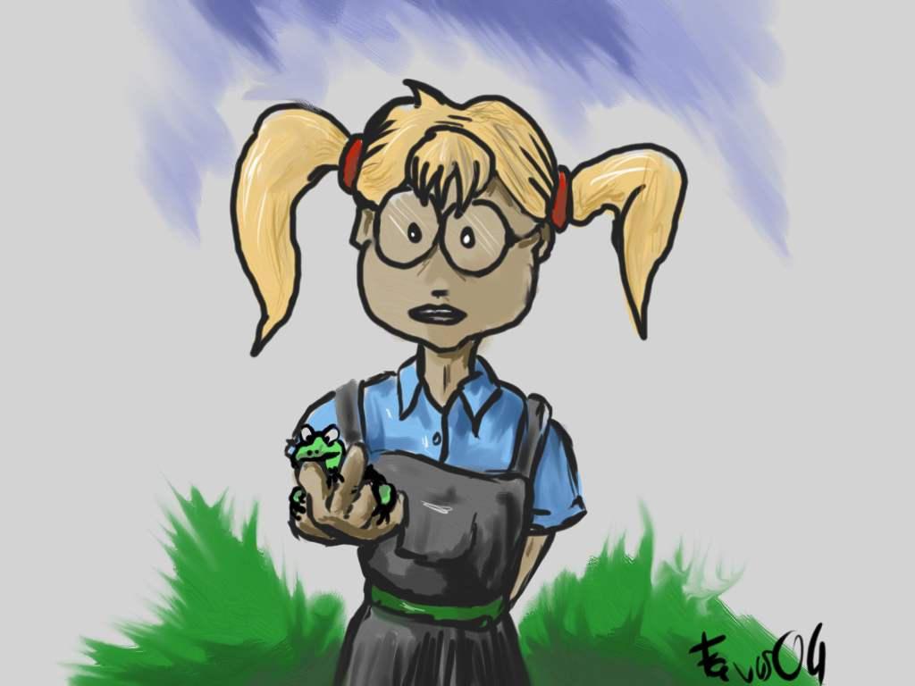 "Фанарт по ""Самой плохой ведьме"" - Страница 7 Mildred_moonshine_and_a_frog"