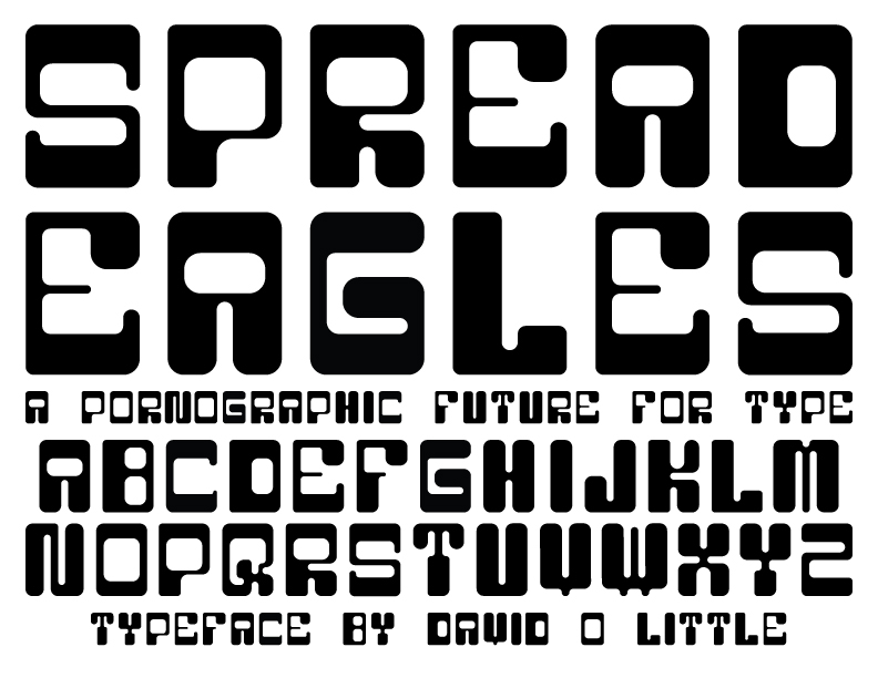 Spread Eagles Type Specimen by TheDoLittle