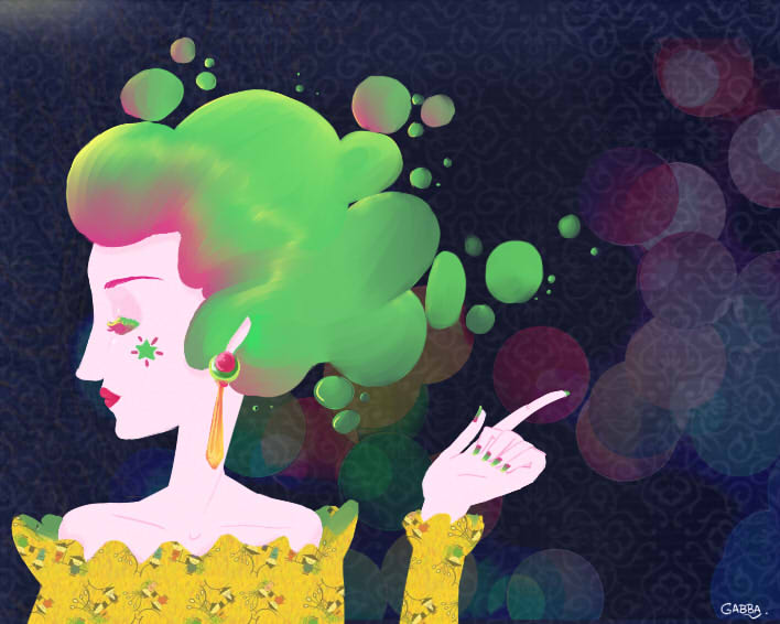 Green Bubbles by GabbaAlche